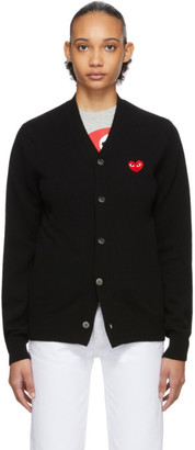 Comme des Garcons Black Mens Fit Heart Patch Cardigan