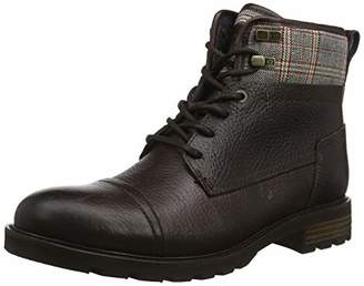 Tommy Hilfiger Men's Winter Leather Textile Mix Boot Classic, (()