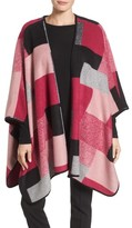 Chaus Women's Geometric Wool-Blend Poncho