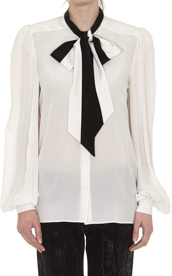 Givenchy Pussybow Collar Blouse