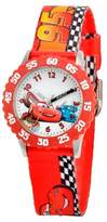 Cars Boys' Disney Stainless Steel with Bezel Watch - Red