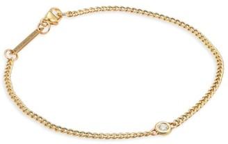 Zoë Chicco 14K Yellow Gold & Floating Diamond Curb Chain Bracelet