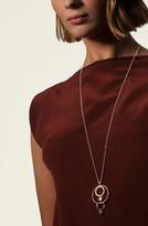 John Hardy Dot Hammered Long Drop Pendant Necklace