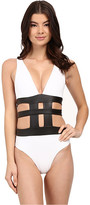 Jets Apparition Plunge Banded One-Piece Swimsuit