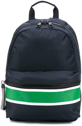 Tommy Hilfiger contrast stripe backpack