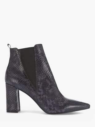 Mint Velvet Jordan Snake Print Ankle Boots, Blue