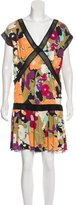 M Missoni Metallic Floral Print Dress