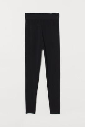 H&M MAMA Seamless Leggings - Black