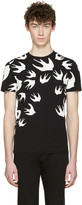 McQ by Alexander McQueen Black Swallows T-Shirt