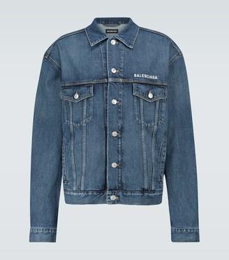 Balenciaga Large fit denim jacket