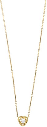 Bony Levy 18K Yellow Gold Diamond Knot Pendant Necklace - 0.12 ctw