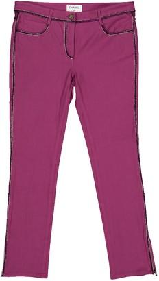 Chanel Purple Cotton Trousers