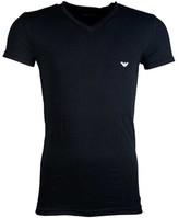 Armani V-neck Underwear T-shirt in Black and White 110752CC518 black