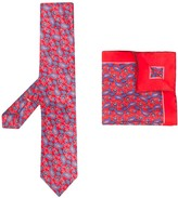 Canali paisley print tie and pocket square
