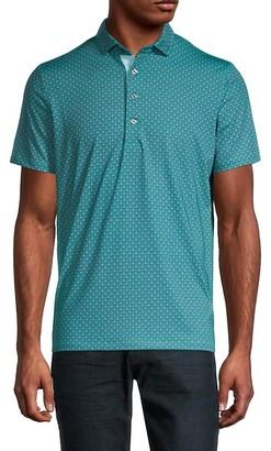 Greyson Backbone Print Golf Polo