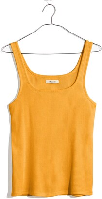 Madewell Ribbed Square Neck Tank