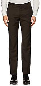Incotex MEN'S M-BODY MODERN-FIT WOOL TROUSERS - BROWN SIZE 42