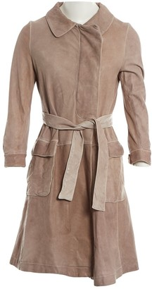 Marni Grey Leather Coat for Women