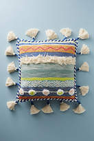 Anthropologie Embroidered Rami Pillow