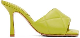 Bottega Veneta Green Lido Sandals