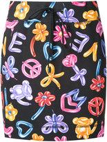 Love Moschino balloon print skirt - women - Cotton/Spandex/Elastane - 40