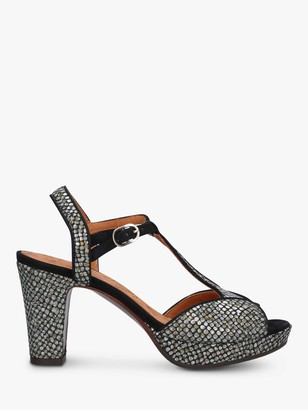 Chie Mihara Eduni 36 Block Heel Platform Sandals, Gold