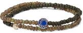 Luis Morais Glass Bead, Sapphire And Gold Wrap Bracelet