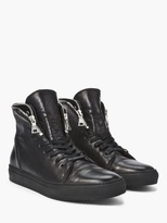 John Varvatos Reed Zip Collar High Top Sneaker