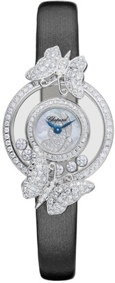 Chopard White Gold and Diamond Butterflies Happy Diamonds Icons Watch 25.8mm