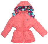 Pink Platinum Coral Big Dot Puffer Jacket - Toddler