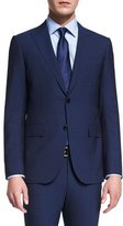 Ermenegildo Zegna Torino Peak-Lapel Two-Piece Wool Suit, Blue