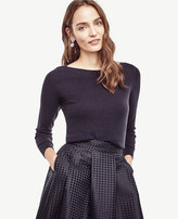 Ann Taylor Wool Cashmere Boatneck Sweater