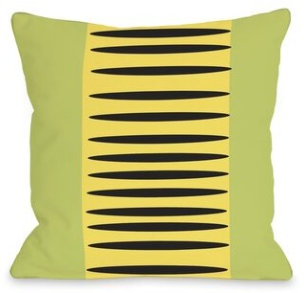Zuma Aztec Lines Throw Pillow One Bella Casa Color: Green Yellow Black