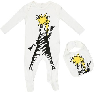 Stella McCartney Kids Baby cotton onesie and bib set