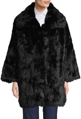 Adrienne Landau Oversized Rabbit Fur Coat