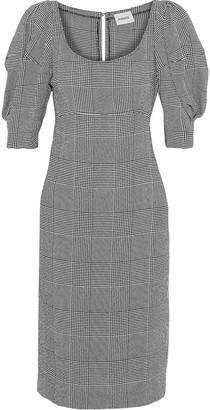 KHAITE Beatrice Gathered Prince Of Wales Checked Jacquard Dress