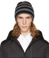 Alexander Wang Grey and Black Striped Beanie