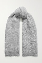 Thumbnail for your product : Dries Van Noten Timothea Metallic Knitted Scarf - Silver