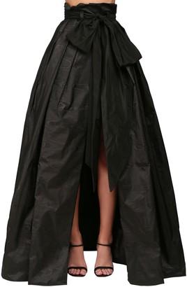 Yolancris Moire Maxi Wrap Skirt