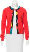 Moschino Silk-Trimmed Cashmere Cardigan