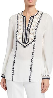 Kobi Halperin Sandi Long-Sleeve Silk Blouse