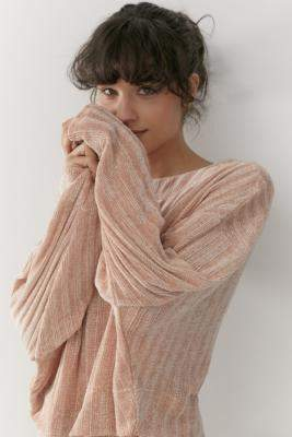 Out From Under Whistler Chenille Wide Neck Jumper - pink XS at Urban Outfitters