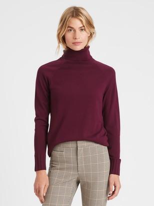 Banana Republic Petite Merino Turtleneck Sweater in Responsible Wool