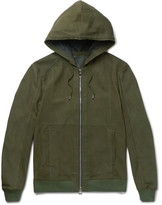 Balmain Nubuck Hooded Jacket