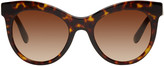 Dolce & Gabbana Tortoiseshell Cat-eye Sunglasses