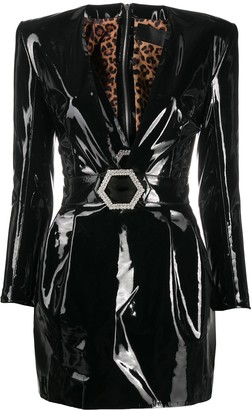 Philipp Plein plunging V-neck mini dress