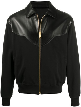 Versace Panelled Bomber Jacket