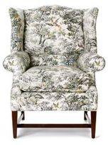 Josef Wingback Chair, Toile