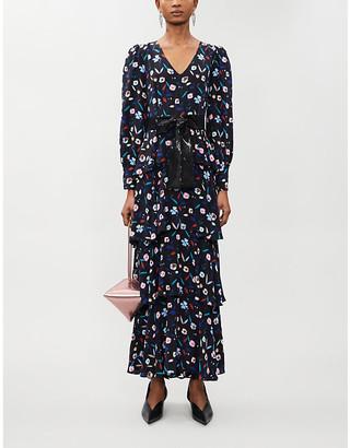 Olivia Rubin Eveline floral-pattern silk-satin maxi dress