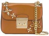 MICHAEL Michael Kors floral embellished shoulder bag - women - Leather - One Size